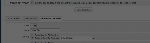 How to specify Tax Rules with WHMCS?