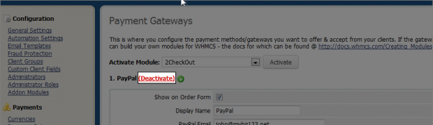 How to set up your Payment Gateways for use with WHMCS?