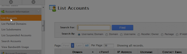 How to create a new Hosting Account in WHM?