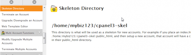 Learning about the Skeleton Directory WHM
