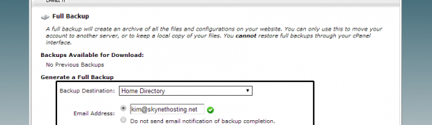 How to take a full backup for website migration